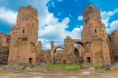 Itália, Roma, banhos de Caracalla Fotografia de Stock Royalty Free
