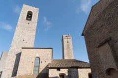 Itália, torres de San Gimignano Fotografia de Stock