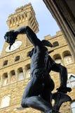 Itália, Toscânia, Florença, di Benvenuto Cellinib de Perseo, della quadrado Signoria Foto de Stock Royalty Free