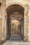 Itália, Toscânia, Pistoia A aleia na cidade velha foto de stock royalty free