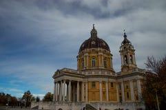 Itália, Turin, igreja de Superga Fotografia de Stock Royalty Free