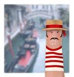 ITÁLIA, VENEZA - gondoleiro italiano Imagens de Stock Royalty Free
