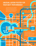 It' a map!  It's a Poster!  It's a Guitar! Royalty Free Stock Photography