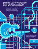 It' a map!  It's a Poster!  It's a Guitar! Stock Photo