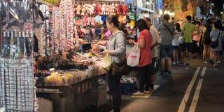 It's miejsca nocy sławny rynek Keelung w Tajwan Zdjęcie Stock