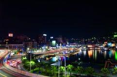 It's schronienia noc Keelung w Tajwan Fotografia Royalty Free