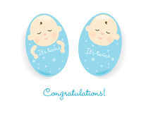 It's twins! (boys) Royalty Free Stock Image