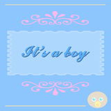 It S A Baby Boy Card Royalty Free Stock Photos
