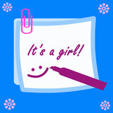 It S A Girl Note. Royalty Free Stock Photos