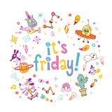 It`s Friday - Greeting Card