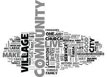 Free It Takes A Village Word Cloud Concept Stock Photography - 96809262