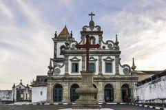 Itacare教会在Morro de圣保罗,萨尔瓦多,巴西 免版税库存图片