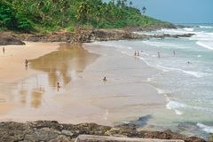 Tiririca beach in Itacare Bahia Brazil. Itacare, Brazil - December 6, 2016: View of the beautiful Tiririca beach at the Itacare city in Bahia Brazil Royalty Free Stock Photography