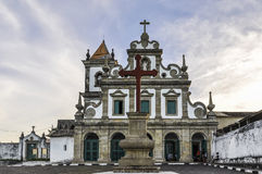 Itacarekerk in Morro DE Sao Paulo, Salvador, Brazilië royalty-vrije stock afbeelding