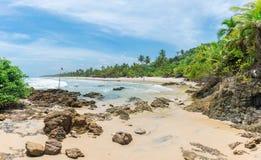 Itacarezinho prachtig strand in Bahia in Brazilië royalty-vrije stock afbeeldingen