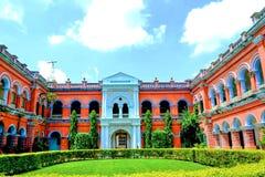 Itachuna Rajbari Zamindar Bari lokalizować na Hooghl okręgu obrazy stock