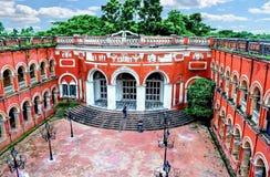 Itachuna Rajbari Zamindar bari som lokaliseras på det Hooghl området royaltyfri fotografi