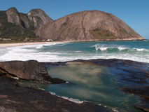 Itacoatiara beach in Niteroi, Brazil Royalty Free Stock Photography