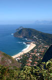 Itacoatiara beach view of the Mourao Mountain top Royalty Free Stock Photo