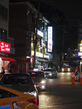 Itaewon Seoul Street. A street scene in Seoul`s popular Itaewon neighborhood Stock Image