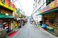 Itaewon tourism zone, a popular street in Seoul Royalty Free Stock Photography