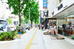 Itaewon tourism zone, a popular street in Seoul Stock Photography