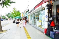 Itaewon tourism zone, a popular street in Seoul Royalty Free Stock Photos