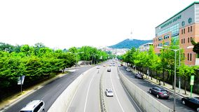 Itaewon tourism zone, a popular street in Seoul stock video footage
