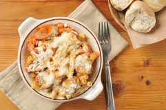 Itaian sausage and meatball rigatoni Royalty Free Stock Photography