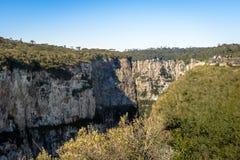 Itaimbezinho Canyon at Aparados da Serra National Park - Cambara do Sul, Rio Grande do Sul, Brazil Royalty Free Stock Photography