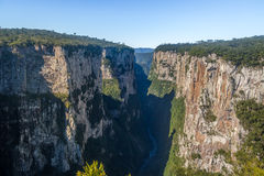 Itaimbezinho Canyon at Aparados da Serra National Park - Cambara do Sul, Rio Grande do Sul, Brazil Royalty Free Stock Image