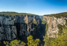 Itaimbezinho Canyon at Aparados da Serra National Park - Cambara do Sul, Rio Grande do Sul, Brazil Stock Images