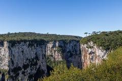 Itaimbezinho Canyon at Aparados da Serra National Park - Cambara do Sul, Rio Grande do Sul, Brazil Stock Image