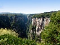 Itaimbezinho Canyon - Brazil. Grand Canyon Itaimbezinho in Cambara do Sul, the border between the states of Santa Catarina and Rio Grande do Sul, in southern Royalty Free Stock Images
