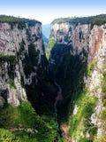 Itaimbezinho Canyon - Brazil. Grand Canyon Itaimbezinho in Cambara do Sul, the border between the states of Santa Catarina and Rio Grande do Sul, in southern Stock Image