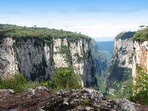 Itaimbezinho Canyon - Brazil. Grand Canyon Itaimbezinho in Cambara do Sul, the border between the states of Santa Catarina and Rio Grande do Sul, in southern Royalty Free Stock Photo