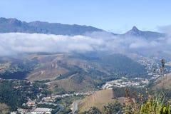 Itaipava在一有雾的天 库存图片