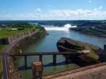 Itaipu binancional, hydroelectric plant, Brazil-Paraguay. Is a hydroelectric dam royalty free stock photography