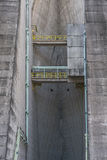 Itaipu Dam Detail from Brazilian Border Stock Photo