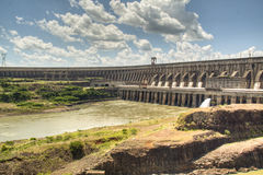 Itaipu dam. The large dam of Itaipu in Brazil Royalty Free Stock Photos
