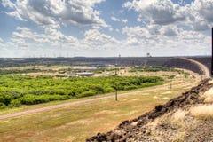 Itaipu dam. The large dam of Itaipu in Brazil Stock Photography