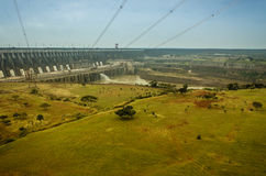 Itaipu Hydroelektryczna elektrownia Zdjęcia Stock