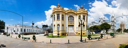 Panorama of the Historical Museum, the Casa de Cultura and the M. Itajai, Santa Catarina, Brazil - February 22th, 2018: Panorama of the Historical Museum of Stock Photos