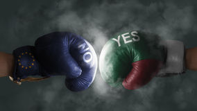 Italexit, Symbol of a Referendum EU vs Italy Stock Photo