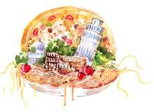 Italië stock illustratie