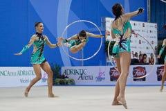 Italië 5 hoepels, de Kop van de Wereld Pesaro 2010 Stock Afbeelding