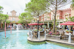 Italië als thema gehad gebied - Europa Park, Duitsland Royalty-vrije Stock Foto's