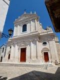 Italië, Apulia, Bari, Locorotondo, de kerk van de martelaar van San Giorgio royalty-vrije stock afbeeldingen