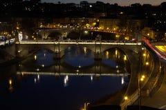 Italië bij nacht royalty-vrije stock afbeelding