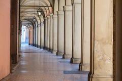Italië, Bologna, woestijnportiek Royalty-vrije Stock Afbeeldingen